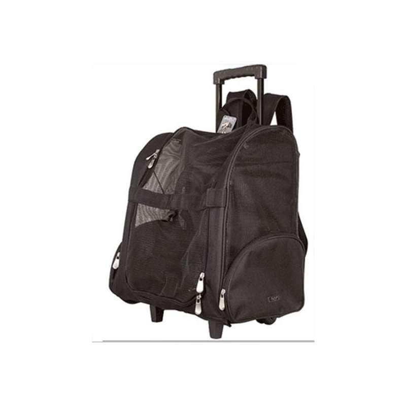 sac noir transport chien dos et roulettes canislana. Black Bedroom Furniture Sets. Home Design Ideas