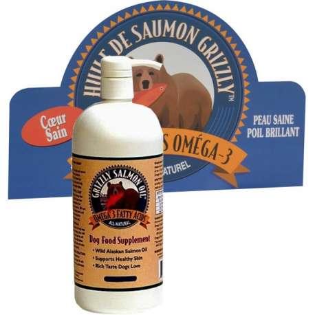 Huile de saumon pour chien - 500 ml - Grizzly de marque :