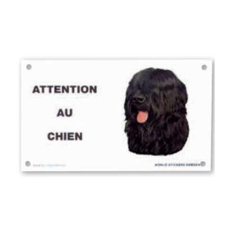 Plaque Attention au chien - Pour autocollant de marque :