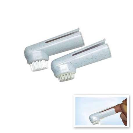 Lot de 2 brosse à dents - Doigtiers de marque : CANISLANA For dogs