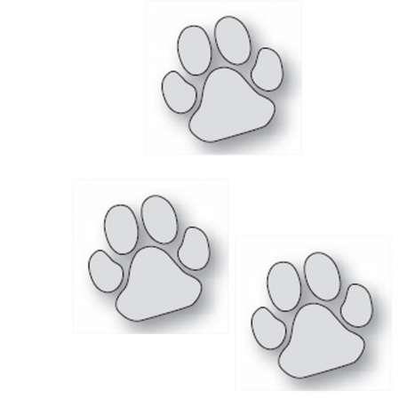 Lot de 3 autocollants patte grise chien -11cm-Vitrine-Vitres-1