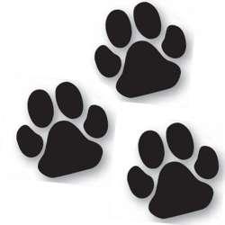 Lot de 3 autocollants patte noire chien -25cm-Vitrine-Vitres-1 de marque :