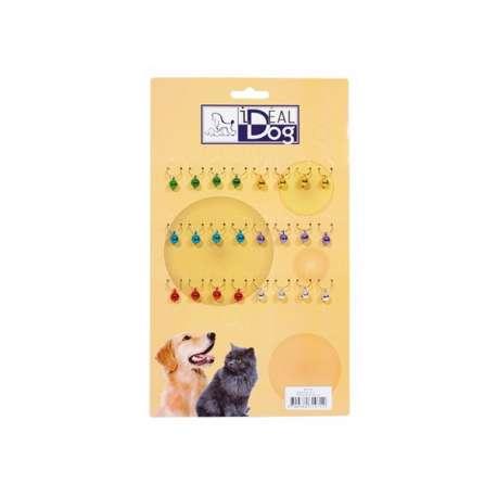 Plaquette de 24 grelots de couleur - Petit modèle de marque :