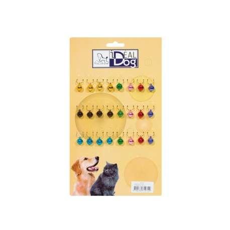 Plaquette de 24 grelots de couleur - Grand modèle de marque :