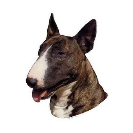 Autocollants Bull Terrier Bringe - 7 cm - Lot de 4 de marque :