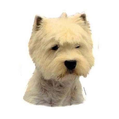 Autocollants West Highland White Terrier - 7 cm - Lot de 4 de marque :