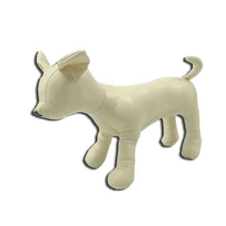 Mannequin de chien blanc
