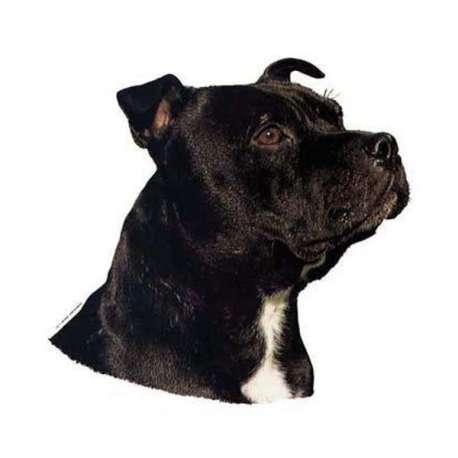 Autocollants Staffordshire Bull Terrier - 7 cm - Lot de 4 de marque :