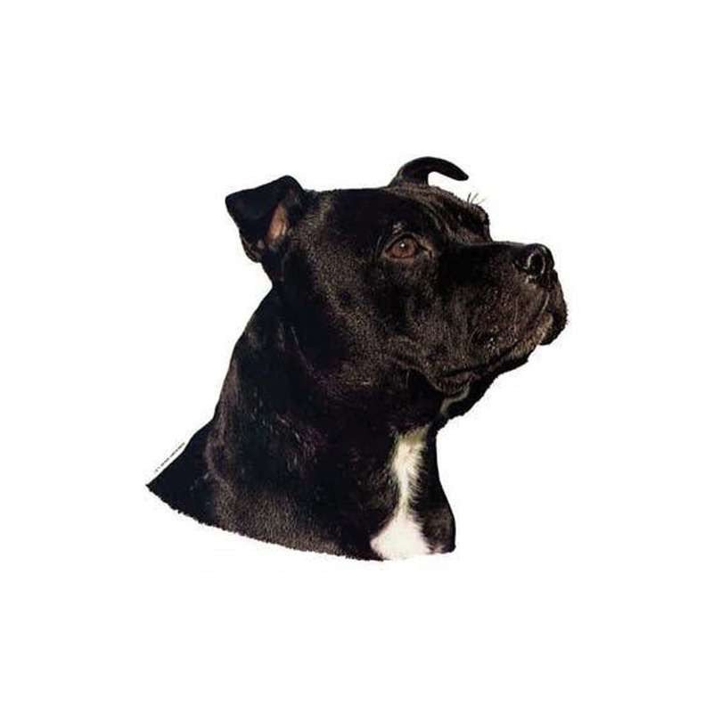 Autocollants Staffordshire Bull Terrier - 7 cm - Lot de 4