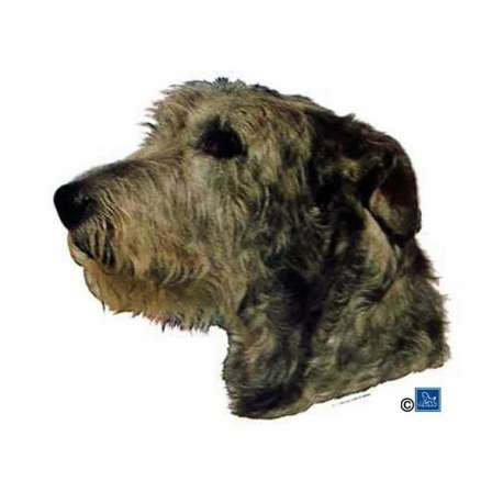 Autocollants Irish Wolfhound - 7 cm - Lot de 4 de marque :