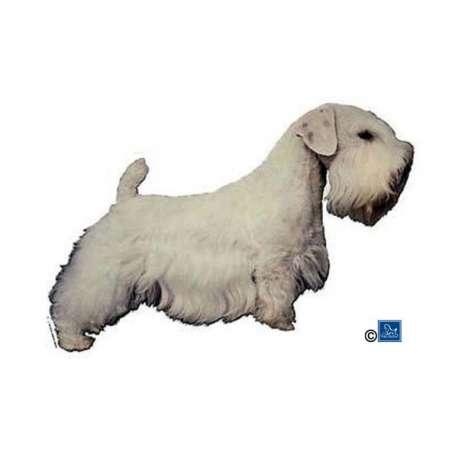 Autocollants Sealyham Terrier - 7 cm - Lot de 4 de marque :