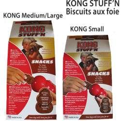Kong Stuff'n - Biscuits pour chiens au foie de marque : KONG
