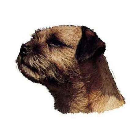 Autocollants Border Terrier - 14 cm - Lot de 2 de marque :