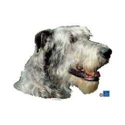 Autocollants Irish Wolfhound - 14 cm - Lot de 2