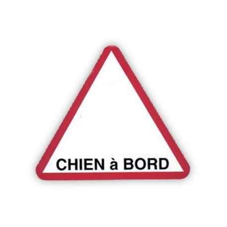 "Autocollant ""Chien à bord"" triangulaire de marque :"