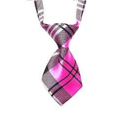 Cravate pour chien - Ecosse rose de marque :