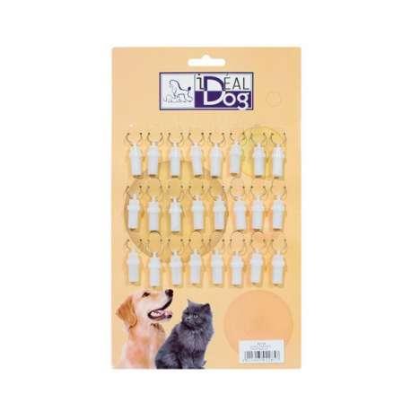 Plaquette de 24 tubes d'identité plastiques de marque :