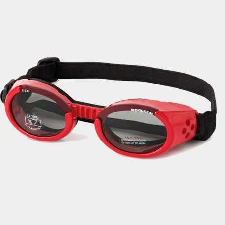 Lunettes solaire rouge Doggles ILS pour chiens de marque : DOGGLES