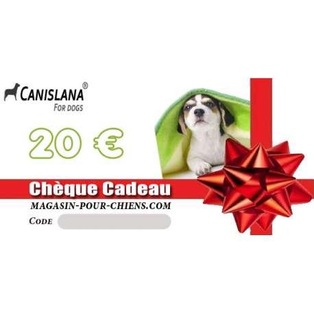 Chèque cadeau 20 € de marque :