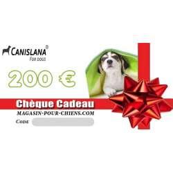 Chèque cadeau 200 € de marque :