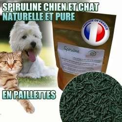 Spiruline pour chien ou chat naturelle et pure - Paillettes