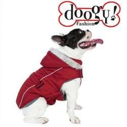 Doudoune rouge bordeaux spécial Bouledogue - Softy Doogy de marque : DOOGY