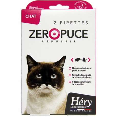Pipettes pour Chat Hery Zero puces Chat