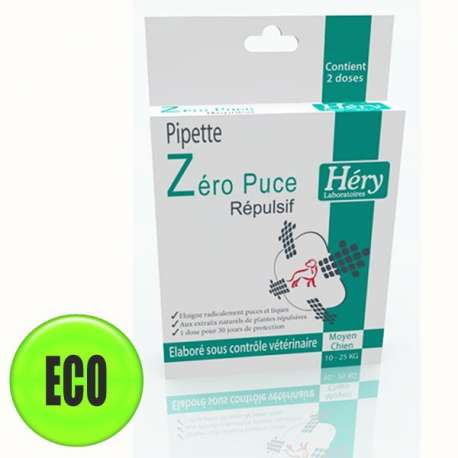 PIPETTES Hery Zero puces Chiens moyens