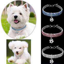 Colliers Strass Pour Chiens - Pendentif Football
