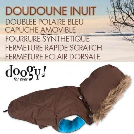 Destockage Doudoune pour chien Inuit marron - Doogy de marque : DOOGY
