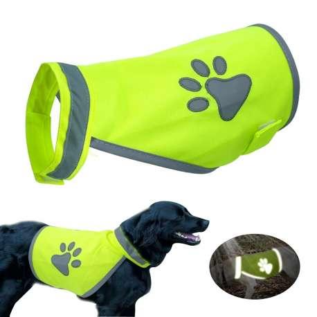 Gilet jaune fluo chien - Sécurité, haute Visibilité. de marque :