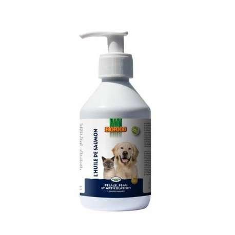 Huile de saumon pour chien et chat Biofood de marque : Biofood
