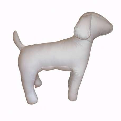 Mannequin de chien en tissus - Blanc - Corps fin
