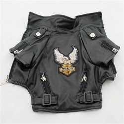Destockage - Blouson Moto en cuir pour chien - Biker de marque :