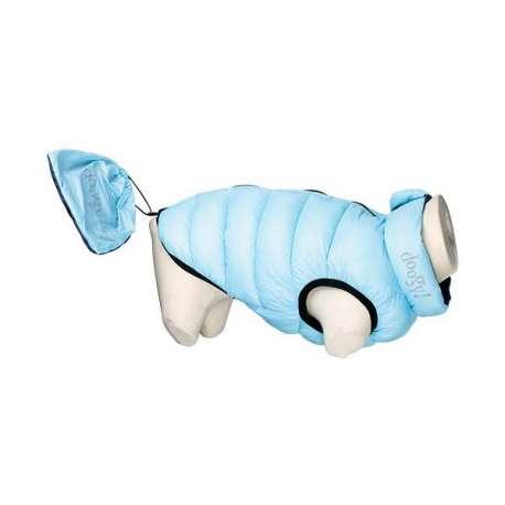 Doudoune Lighty Réversible bleu clair et bleu foncé