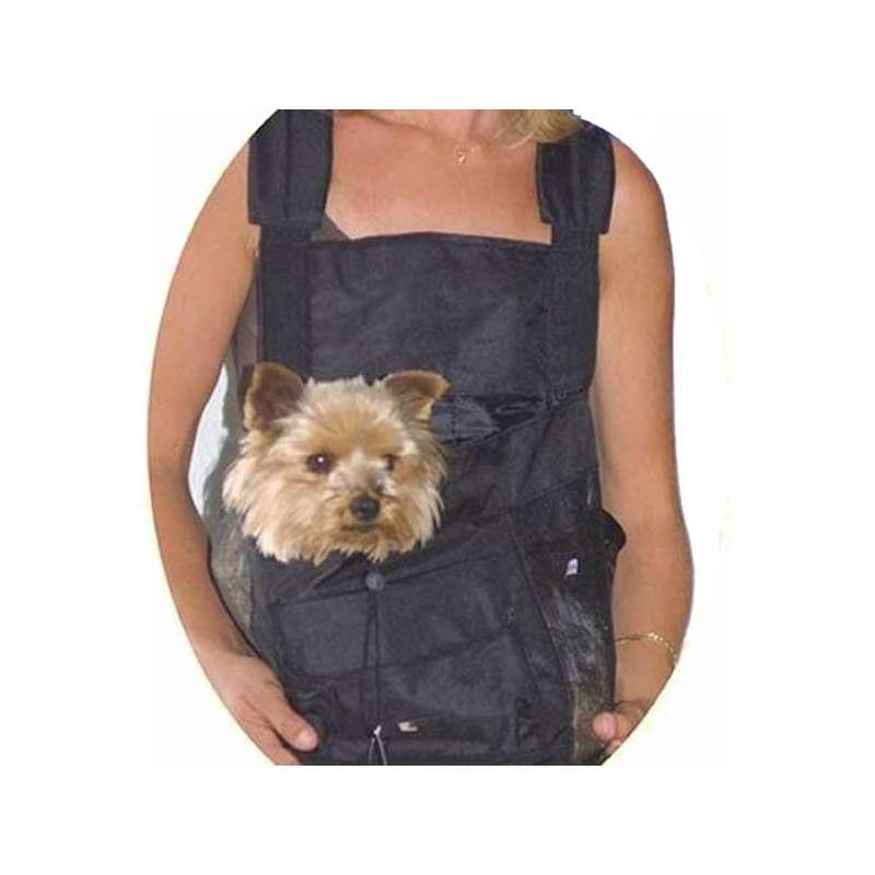 sac ventral noir transport petit chien ou chat canislana. Black Bedroom Furniture Sets. Home Design Ideas
