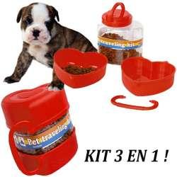 Kit de voyage chien ou chat, croquettes et eau