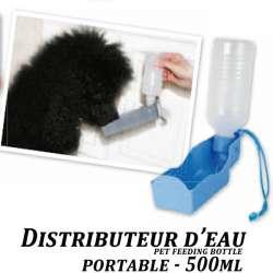 Distributeur eau portable pour chien, voyage, rando 500ml
