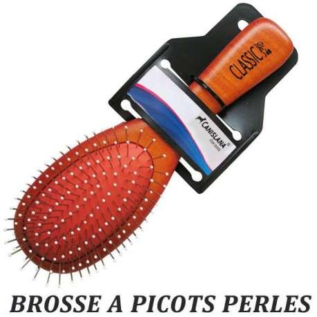 Brosse picots perle chien ou chat - Picots 1,7cm de marque :