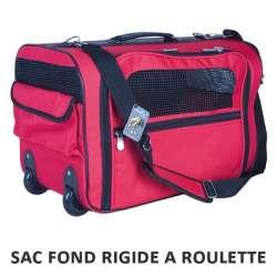 Sac transport chien et chat rouge à roulettes - Doogy de marque : DOOGY