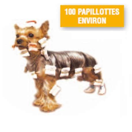 100 Papillotes - Blanches - Yorkshire, Shih Tzu ...