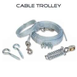 Cable d'attache pour chien - Trolley - 15 mètres