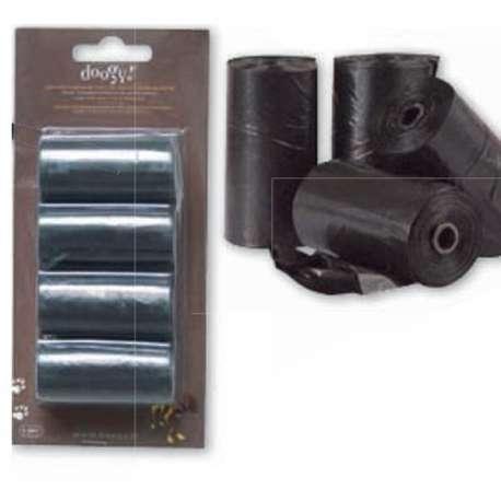 Lot de 4 rouleaux de 20 sacs - Ramasse crotte - Noir de marque : CANISLANA For dogs