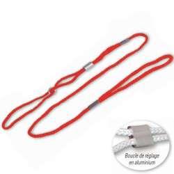 Laisse de présentation nylon 5mm - Rouge - Expo de marque :